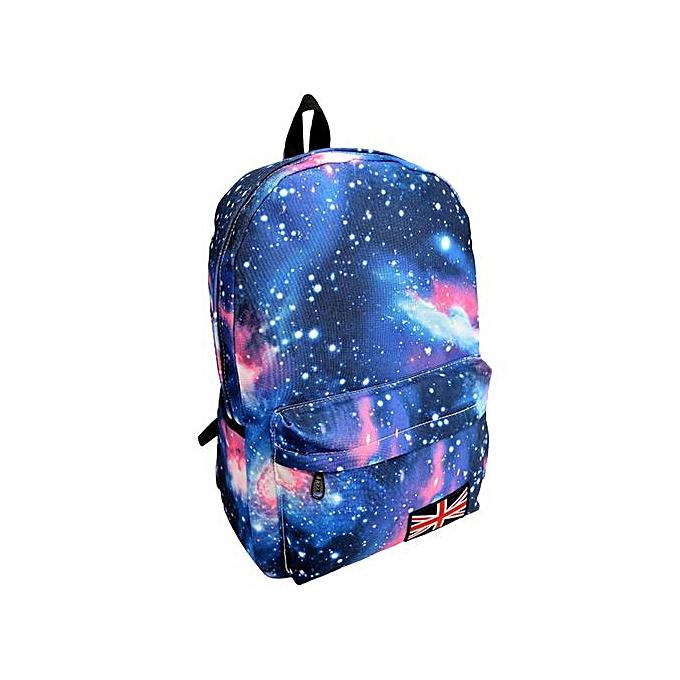 Fashion Xiuxingzi_Galaxy Pattern Unisex Travel Backpack Canvas Leisure Bags School Bag BU à prix pas cher