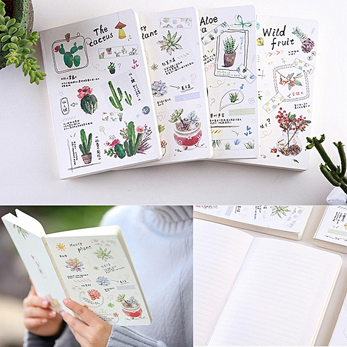 UNIVERSAL 160 Pages vert Plants Planner Diary Journal Grid Lined Papers Study Notebook à prix pas cher