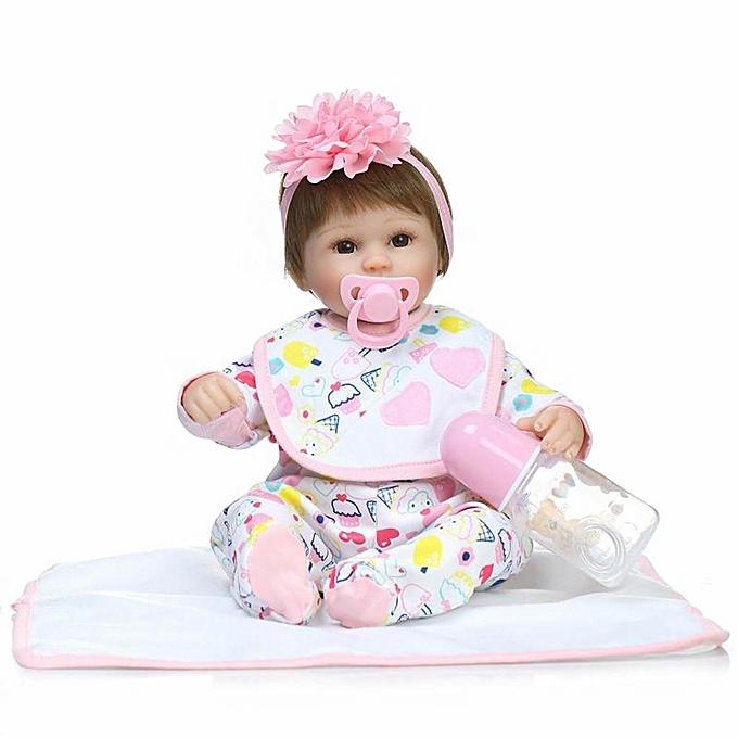 OEM Réaliste Reborn Baby Girl Doll Toy Silicone Souple Vinyle Doux Tactile Nouveau-Né Poupée à prix pas cher