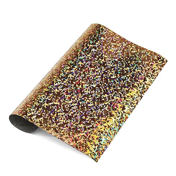 UNIVERSAL Glitter Heat Transfer Vinyl or Press Iron On Sheet Starter Bundle For T-Shirts à prix pas cher