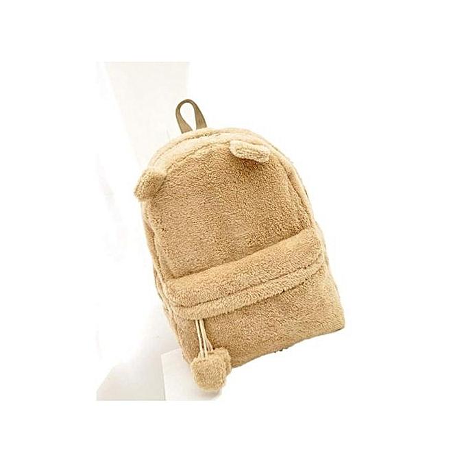 mode Xiuxingzi_Ladies Girls sac à dos Handsac Cute voyage Satchel Shoulder Plush sac sac à dos à prix pas cher