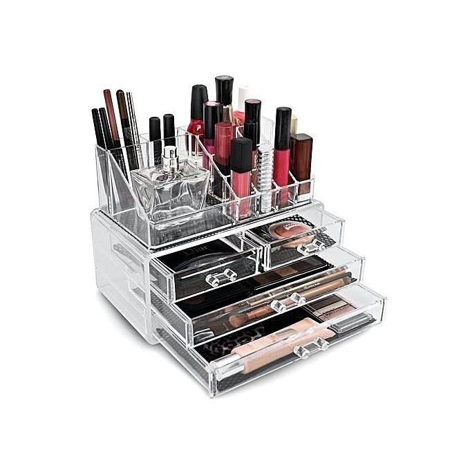 Organisateur acrylique de maquillage avec des tiroirs - Organisateur de maquillage ...