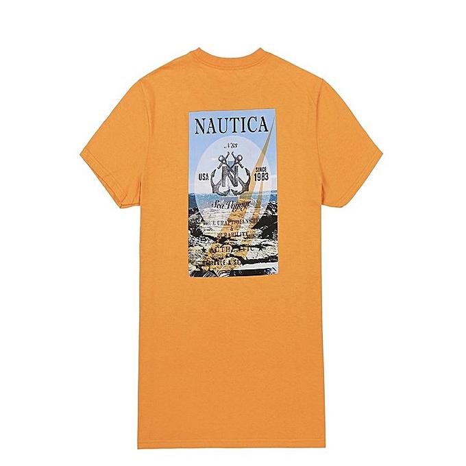 Nautica T-shirt Sea Voyage - Orange à prix pas cher