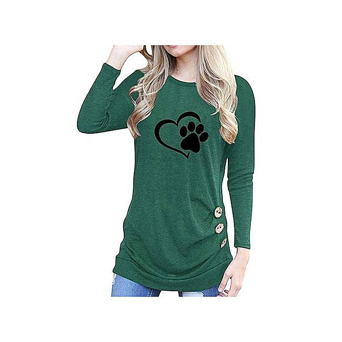 mode femmes mode O-Neck Appliques manche longue Loose hauts T-Shirt chemisier à prix pas cher