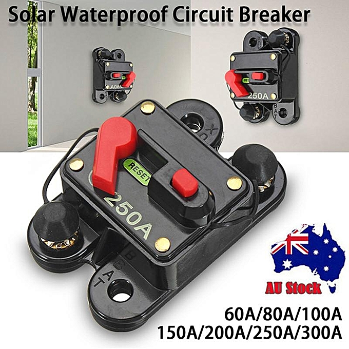 UNIVERSAL Small box with A number signs 12V 24V DC 60A 80A 100A 150A 200A 250A 300A DC solar waterproof circuit breaker single à prix pas cher