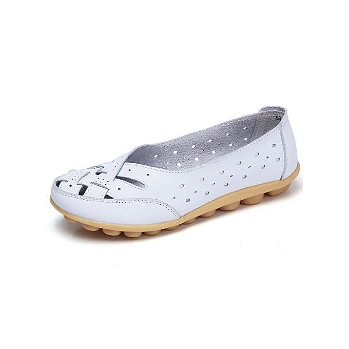 Fashion Hiamok Wohommes chaussures Lady Flats Sandals Leather Ankle Casual Slipper Soft chaussures à prix pas cher    Jumia Maroc