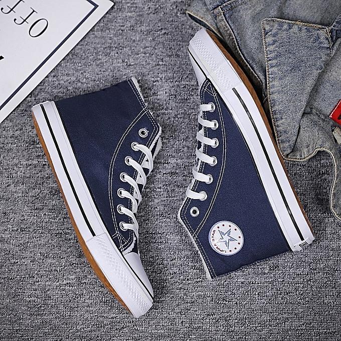 OEM New plus velvet canvas chaussures femmes cotton chaussures Korean version of the trend of warm femmes chaussures casual-bleu à prix pas cher