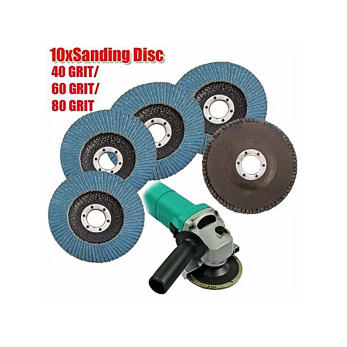 UNIVERSAL 8 Sets FLAP GRIN10x Flap Discs Angle Grinder 4.5  115mm Flat Sanding Grinding 80 Grit à prix pas cher