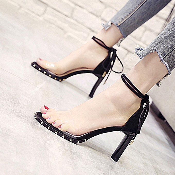 Fashion jiahsyc store Wohommes Summer Shallow Mouth Bow Fashion High Heel Sandals chaussures à prix pas cher