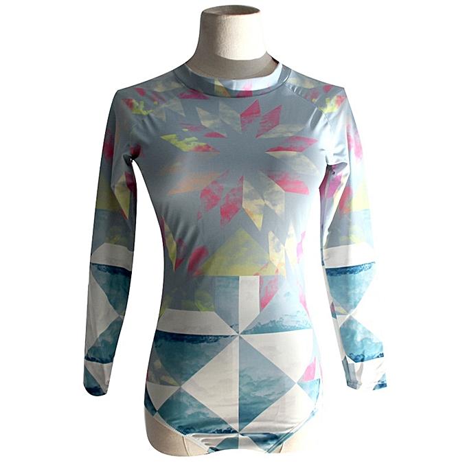 Autre New Padded Swimsuit Rash Guard Long Sleeves Sleeveless Swimwear Rashguard Printed Surf Wear Bodysuit Bathing Suit(Style 7) à prix pas cher