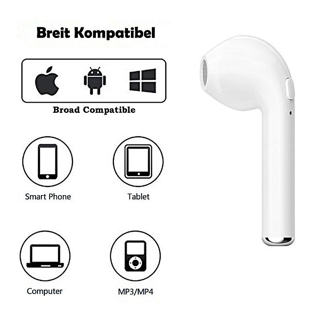 ecouteurs sans fil bluetooth hbq i7 compatible android. Black Bedroom Furniture Sets. Home Design Ideas