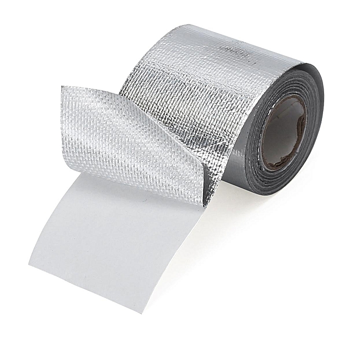 UNIVERSAL 5pcs 2  Self Adhesive Thermoshield Reflective Heat Shield Heatshield Tape Wrapping à prix pas cher