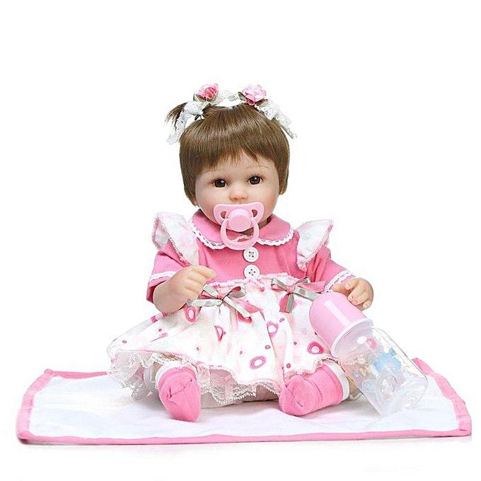 Autre Reborn   Doll Silicone doux réaliste Reborn Babies Girl 45CM Joli Jouet à prix pas cher
