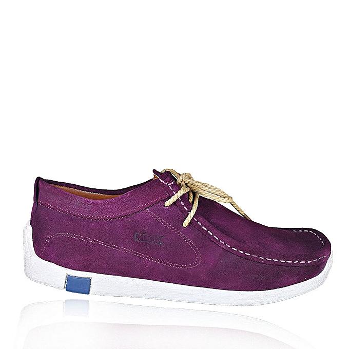 chaussures de séparation 387e0 eb7e2 Chaussures bateau 100% Daim naturel -Mauve