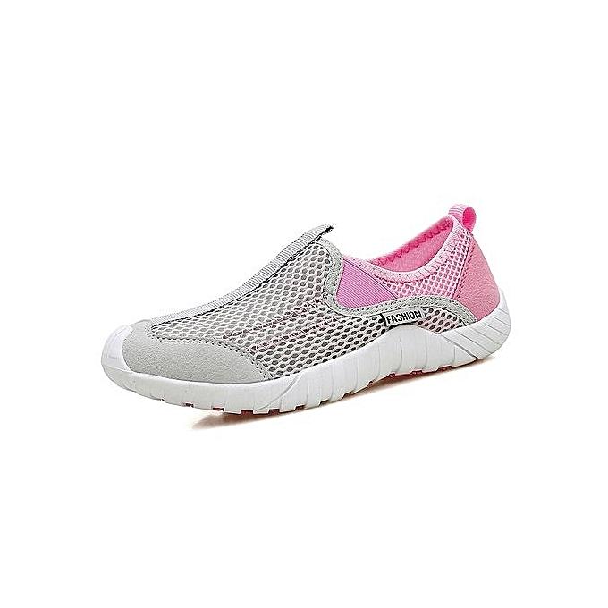 HT Wo  Slip-On Slip-On  Casual Shoes Fashion Sport Shoes Sneakers-Grey/Pink à prix pas cher  | Jumia Maroc 2e9e33