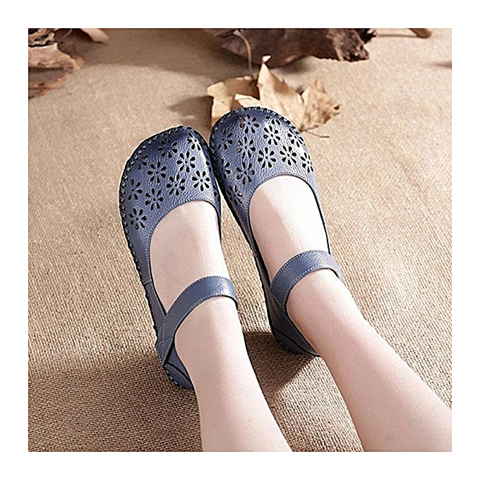Fashion SOCOFY Fashion Mary Jane  Hollow Hollow Hollow Out Hook Loop Soft Flat Vintage WoHommes  Shoes à prix pas cher  | Jumia Maroc b72f74