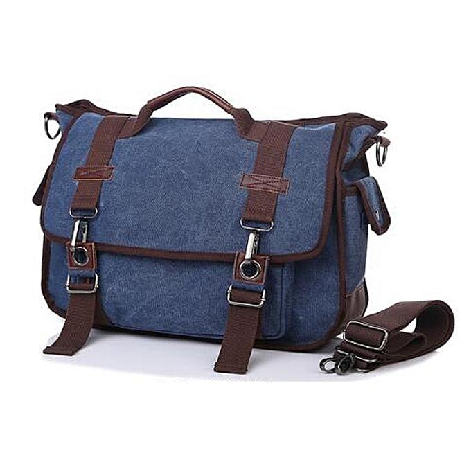 Other Hommes's Décontracté toile sac bandoulière sac Messenger sacs Solid Cover Vintage sac High Quality for Hommes(bleu) à prix pas cher