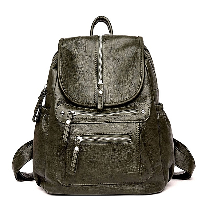 Fashion 2019 femmes Backpack Female High Quality PU Leather Book School Bag For Teenage Girls Travel Back pack Rucksacks Sac A Dos Femme à prix pas cher