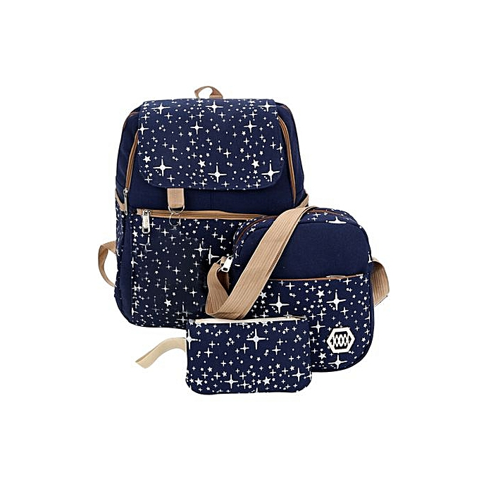 Fashion Correponde Canvas Backpack Shoulder Bag Lady School Student Three Pack Set Travel Bag Hot à prix pas cher