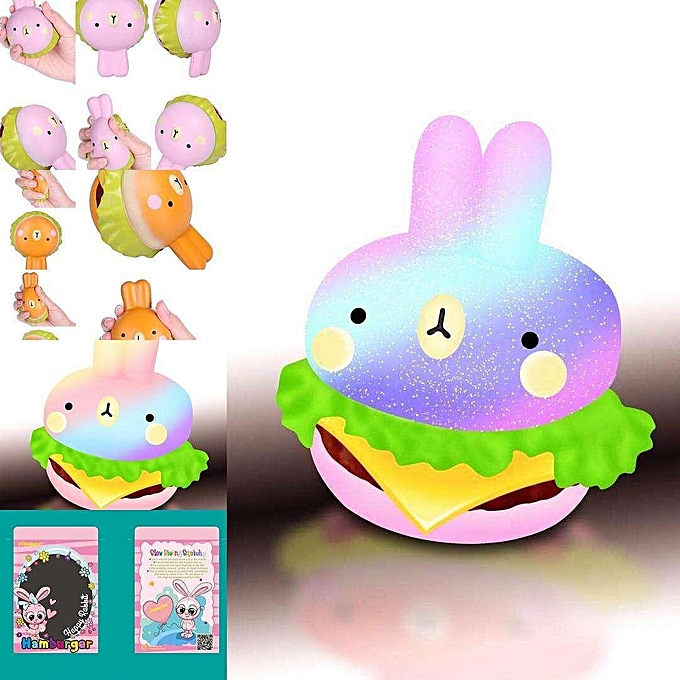 UNIVERSAL Vlampo Squishy Rabbit Hamburger Bunny SFaible Rising Soft Burger Stress Relieve Toy à prix pas cher