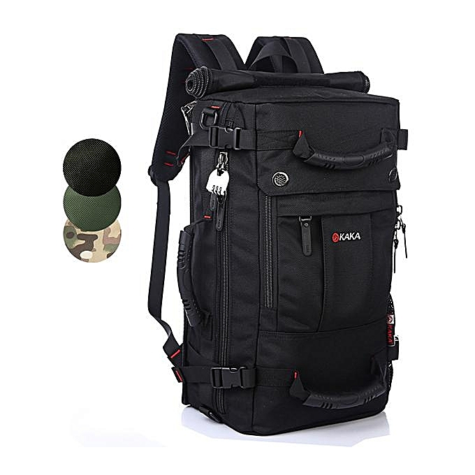 Fashion KAKA Men Travel Bag Camouflage Backpack Waterproof Weekend Duffle Bag with Combination Lock à prix pas cher