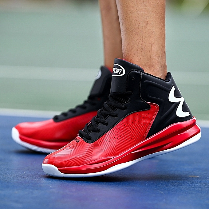 Other Men's Large Taille Basketball chaussures Student Anti-skid Sports Running chaussures-rouge à prix pas cher