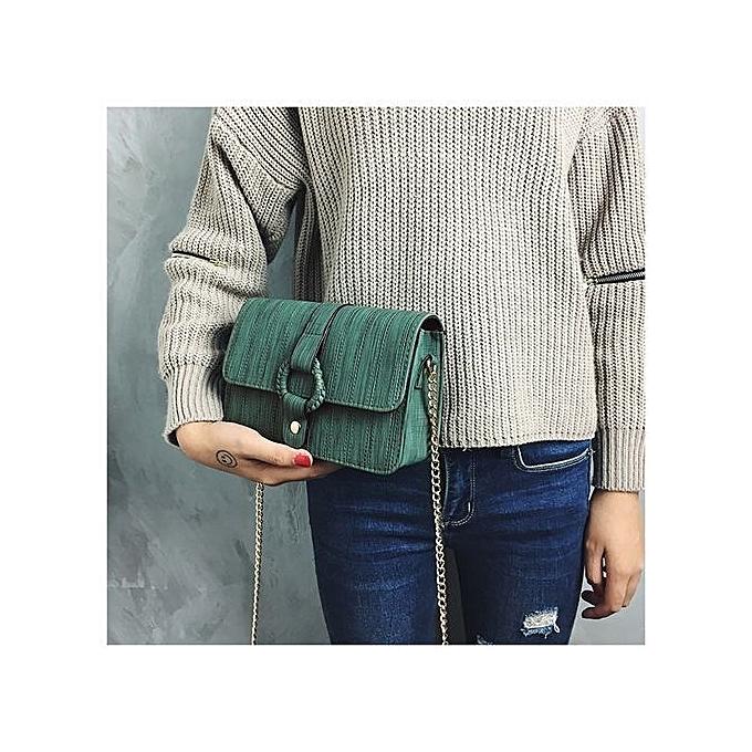 Siketu Wohommes Fashion Wild Chains Handbag Crossbody Shoulder Bags GN-vert à prix pas cher