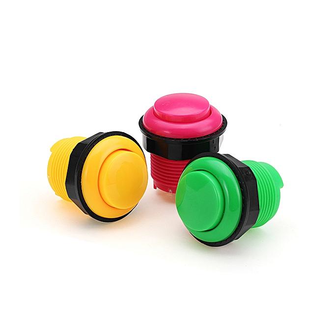 UNIVERSAL 28MM jaune rose vert courte Push Button for Arcade Game Console Controller DIY-vert à prix pas cher