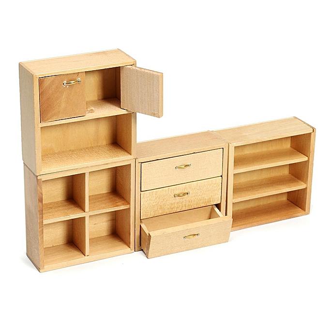 OEM 1 12 Dollhouse bois Furniture Cabinet Cupboard With 4 Sections WL060C à prix pas cher