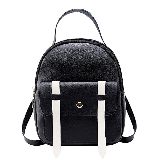 Other sac à dos femmes mode  Girl voyage Students Hit Couleur School sac sac à dos Shoulder sac Shining  Sac A Dos Femme(noir) à prix pas cher