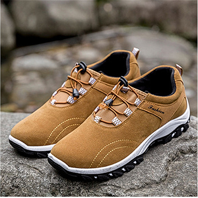 Fashion Men's Trekking Trail Breathable baskets Hiking chaussures Pull on Casual Athletic à prix pas cher