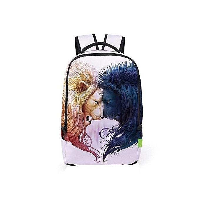 Neworldline femmes Men 3D Galaxy Travel Satchel Backpack Rucksack Shoulder Bookbag School Bag-As Shown à prix pas cher
