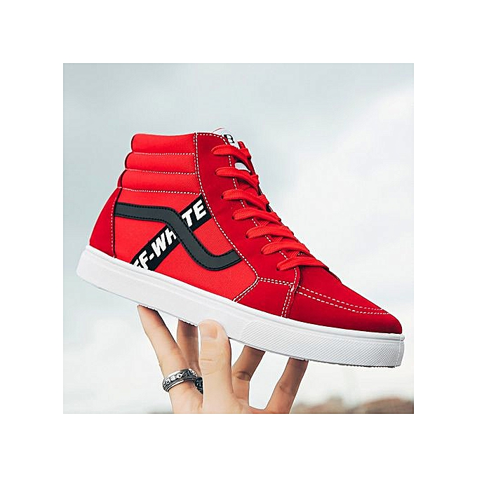 Generic New male Korean version of high-top chaussures trend personality chaussures hommes casual sports chaussures-rouge à prix pas cher