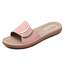 6a7bbb20a02d9a Refined Large Size Women Slippers Flat Casual Shoes Beach Slippers Flip  Flops Sandals Fashion Bling Slipper