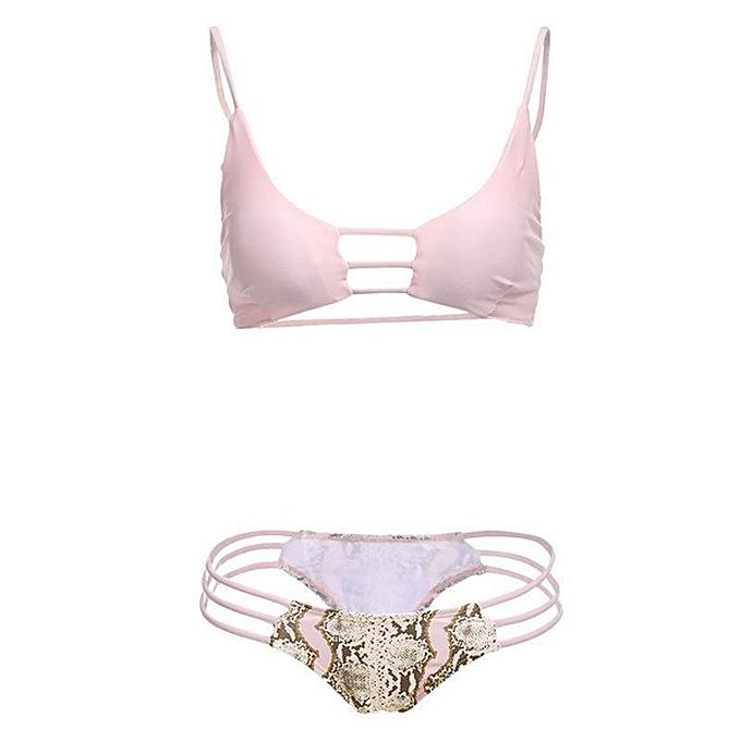 Autre Summer femmes Padded Push-up Bikini Set Lace Swimsuit Bathing Suit Swimwear Beachwear Brazilian Bikini Set à prix pas cher