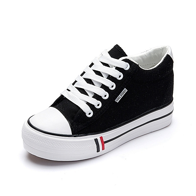 Autre Stylish Korean Students Height Increase Increase Increase Canvas White Shoes à prix pas cher  | Jumia Maroc 5aa510