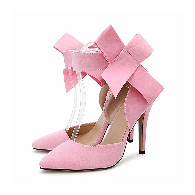 Fashion Fashion Sexy Butterfly Knot Removable Slim Pointed Toe High Heel Stilettos Pumps femmes à prix pas cher    Jumia Maroc