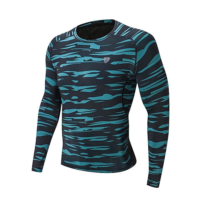 mode Man Workout Leggings Fitness Sports Gym FonctionneHommest Yoga Athletic Shirt Top chemisier -vert à prix pas cher