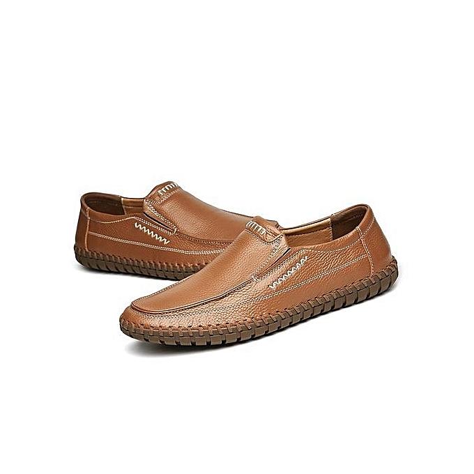 Fashion ? 's Driving Shoes Premium Genuine Genuine Genuine Leather Fashion Slipper Casual Slip On Loafers Shoes-Brown à prix pas cher  | Jumia Maroc cccb5d