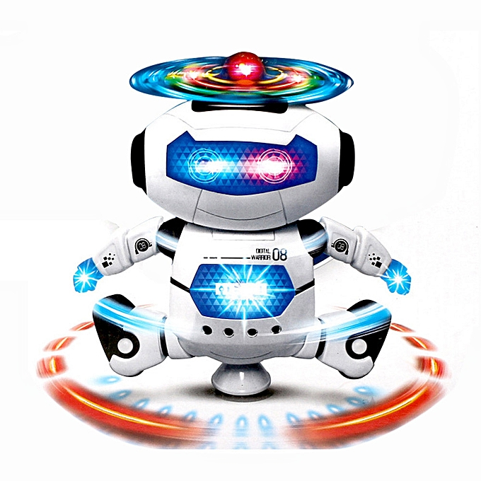 Generic Electronic Walking Dancing Smart Space Robot Astronaut Kids Music Light Toys à prix pas cher