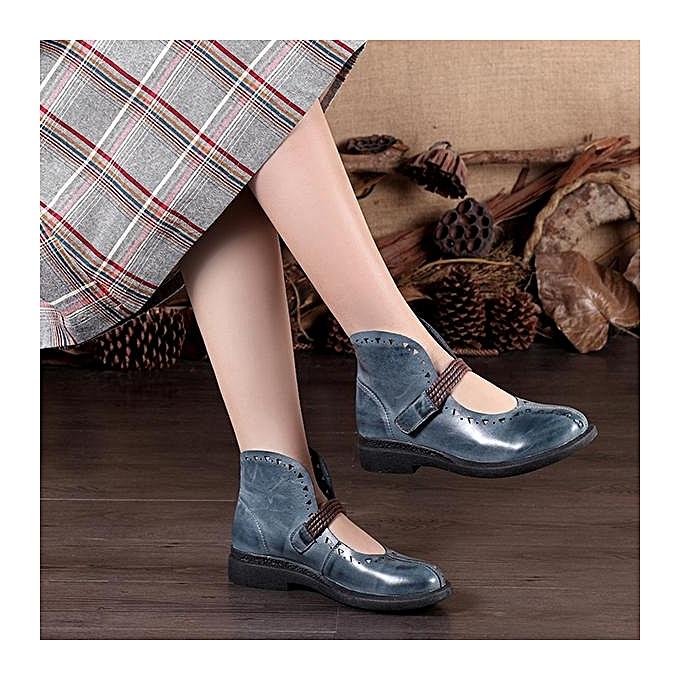 Fashion SOCOFY Retro Retro SOCOFY Hollow Out Pattern Hook Loop Flat Leather Shoes à prix pas cher  | Jumia Maroc 062adb