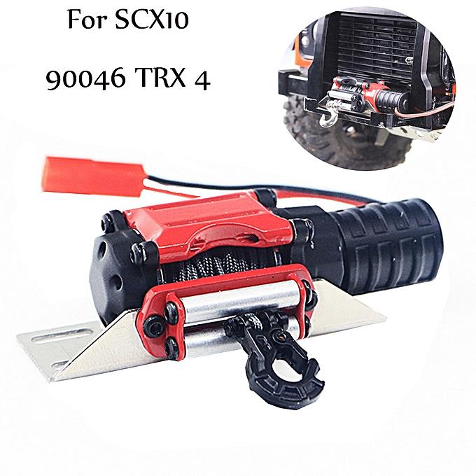 Generic Model voiture Auto Winch Metal Hook Set For 1 10 Axial SCX10 TRX4 KM2 à prix pas cher