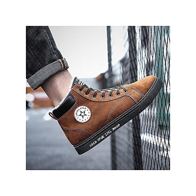 OEM New hommes chaussures hommes casual chaussures Korean sports chaussures hommes low tide chaussures-marron1 à prix pas cher