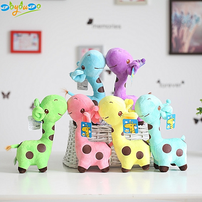 Autre 18cm Cute Baby Toys  Giraffe Plush Toys Dolls For Kids Brinquedos Kawaii Gift For Baby Christmas Gifts(violet) à prix pas cher