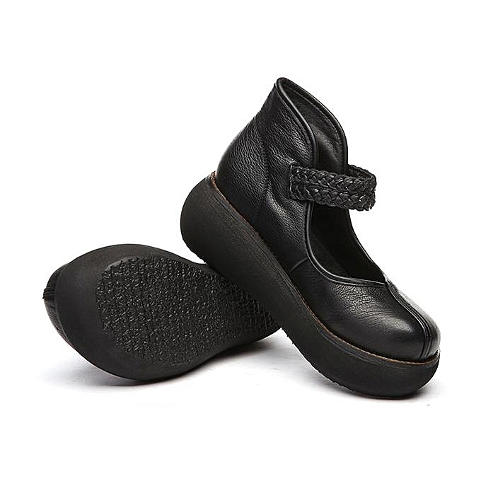 Fashion SOCOFY Retro Round Round Round Toe Hook Loop Platform Soft Leather Fashion WoHommes  Shoes-EU à prix pas cher  | Jumia Maroc eed412