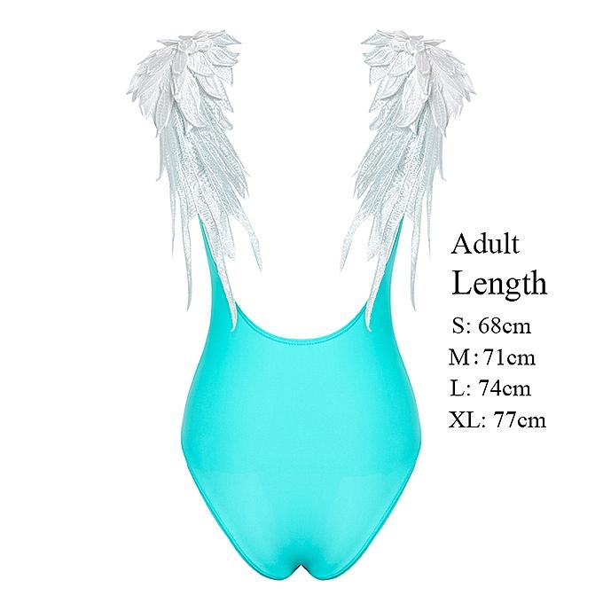 Autre Embroidery wing girls swimsuit bodysuit one-pieces backless swimwear femmes biquinis Push up brazil bikini XL(bleu) à prix pas cher