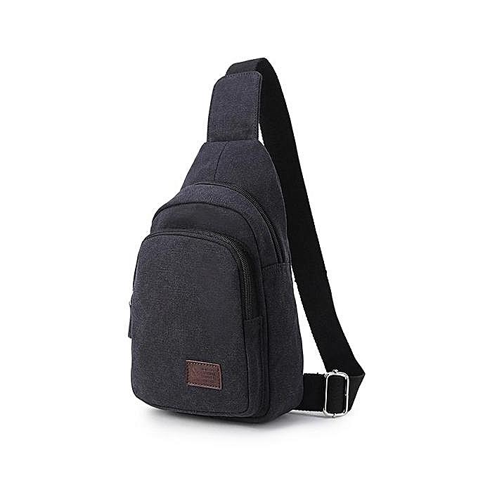 UNIVERSAL Canvas Casual Multi-function Travel Chest Bag Crossbody Bag à prix pas cher