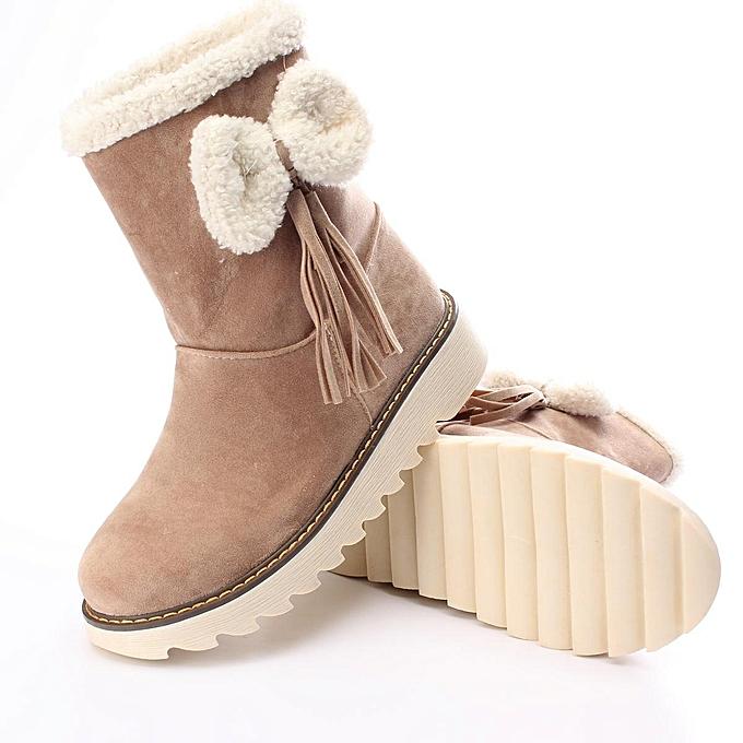 Fashion WoHommes WoHommes Fashion    Winter Warm Snow Boots Plus Size Slip-on Bowknot New Fashion Shoes à prix pas cher  | Jumia Maroc c25d31