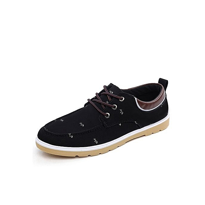 Generic New Arrival Spring Summer Comfortable Casual chaussures Mens Canvas chaussures For Men Lace-Up Brand Fashion Flat Loafers chaussures-noir à prix pas cher