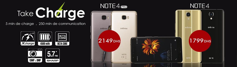 Infinix Note 4 prix maroc